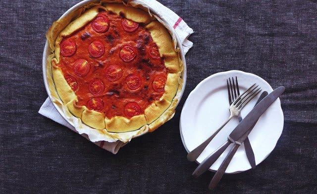 Tarte de atum, tomate e manjericão 1